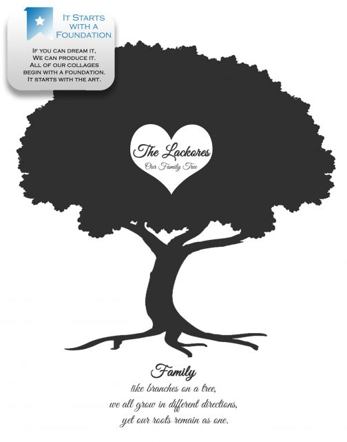 Family Tree Collage Foundation