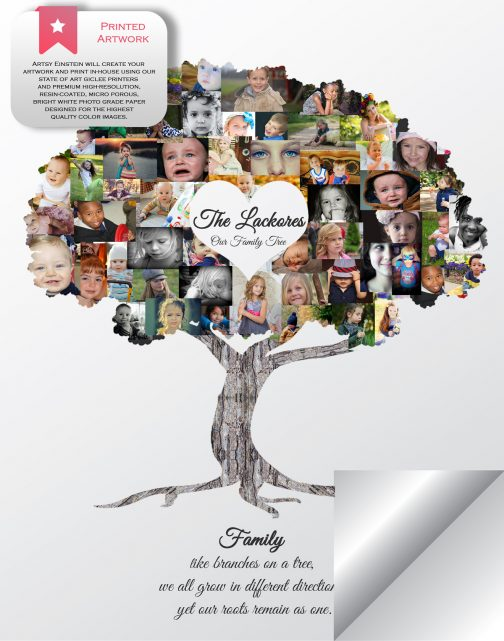 Family Tree Collage Printed Version