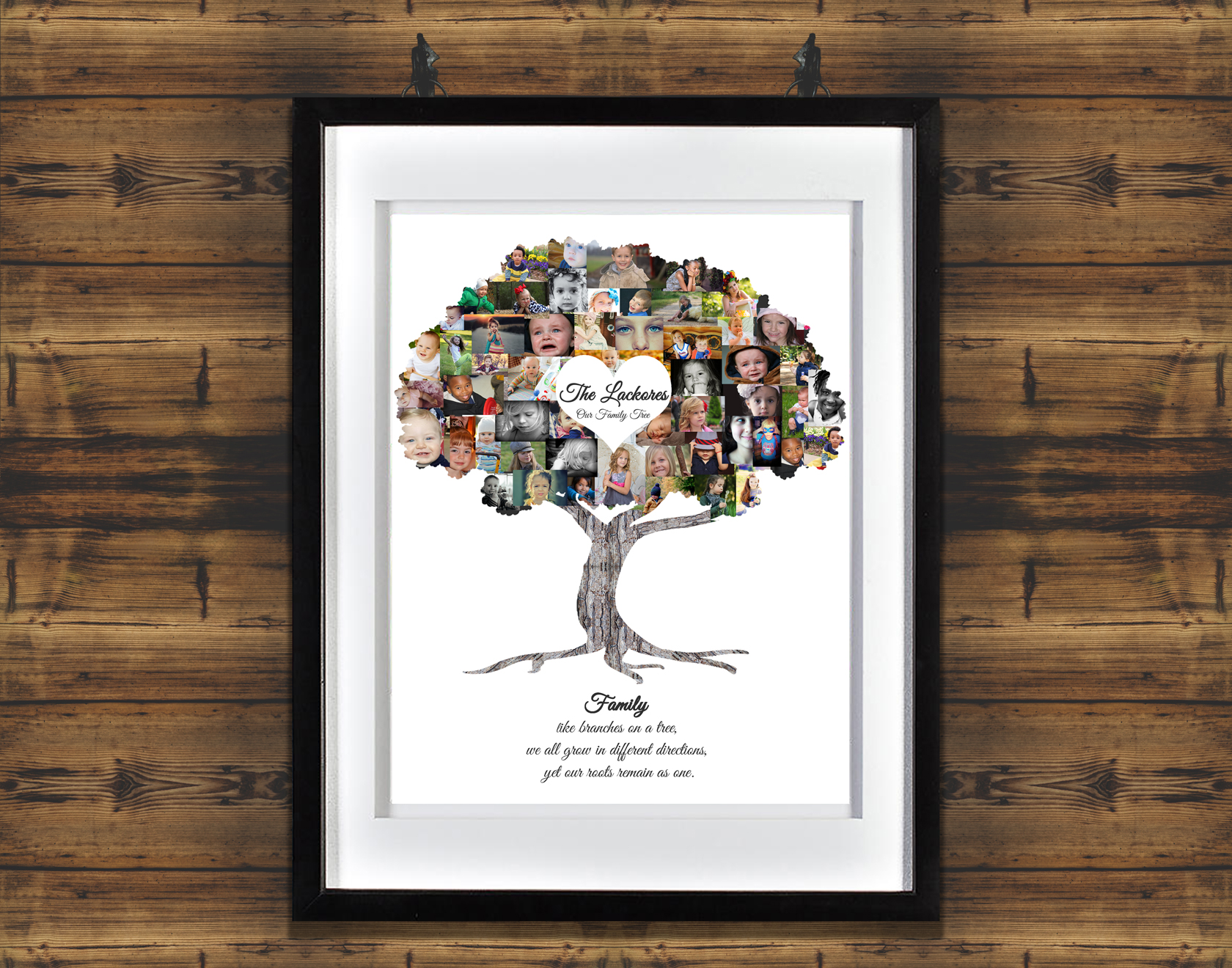 family tree gift premium hand crafted photo collage artsy einstein. Black Bedroom Furniture Sets. Home Design Ideas