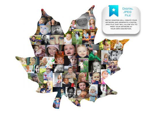 Maple Leaf Collage Digital File