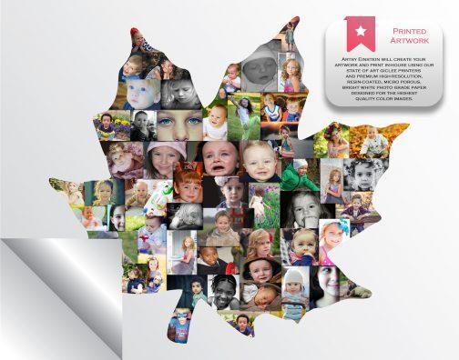 Maple Leaf Collage Printed Version
