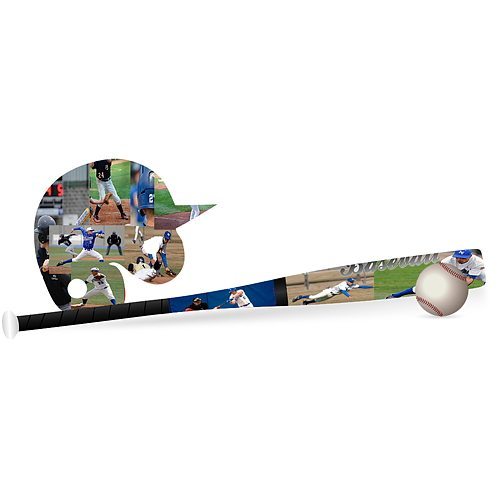 Baseball, Helmet and Bat