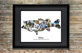 Bass Fishing Gift for Men – Bass Photo Collage