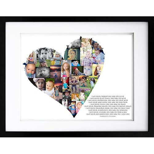 Heart Photo Collage Artsy Form Premium Hand Crafted Collages