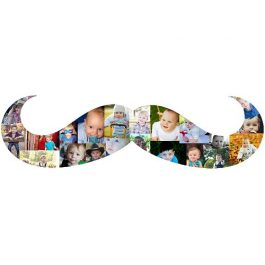 Mustache Photo Collage