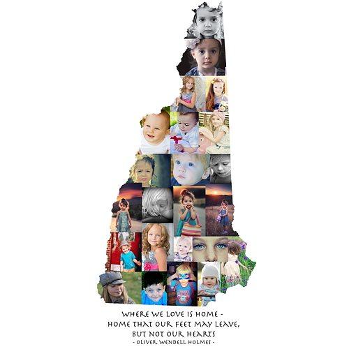 New Hampshire Photo Collage