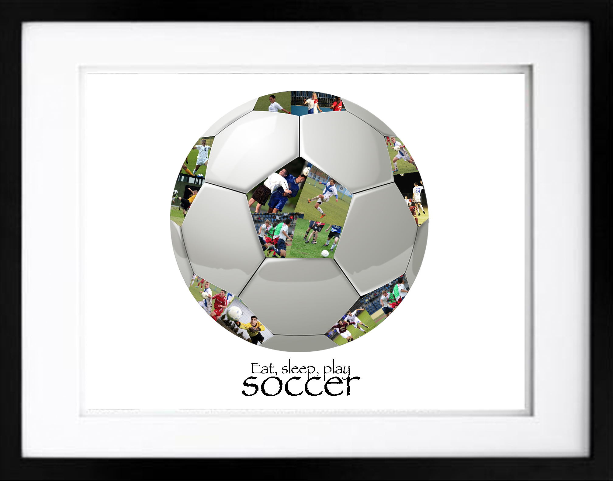 Soccer Ball #1 - Black Embedded - Premium, Hand-Crafted Photo ...