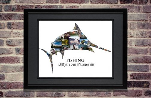Swordfish Fishing Photo Collage