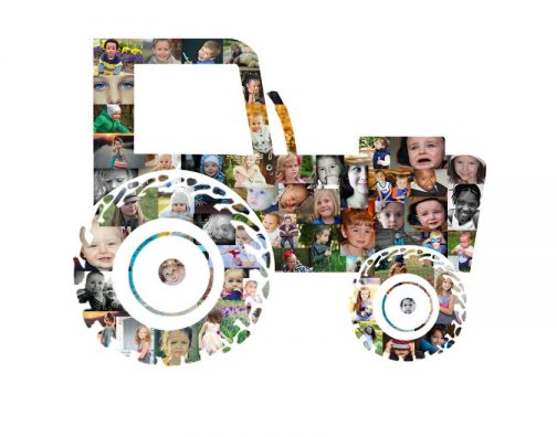 Tractor Photo Collage