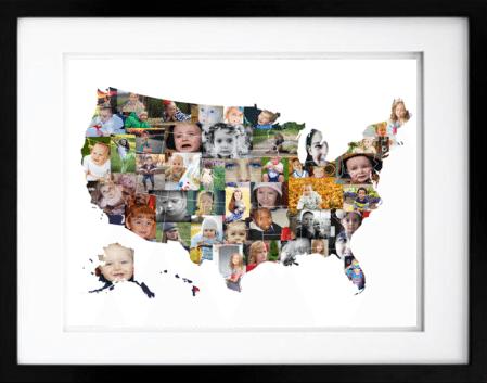 Us Map Photo Collage.Usa Photo Map Premium Hand Crafted Photo Collage Artsy Einstein