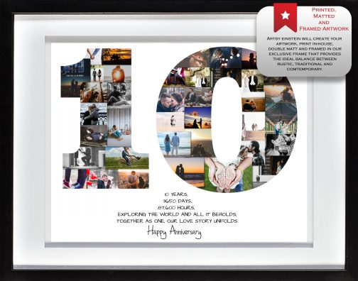 10th Anniversary Collage White Matted Frame