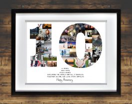 10th Anniversary Photo Collage – 10th Birthday Collage – Milestone Anniversary Collage