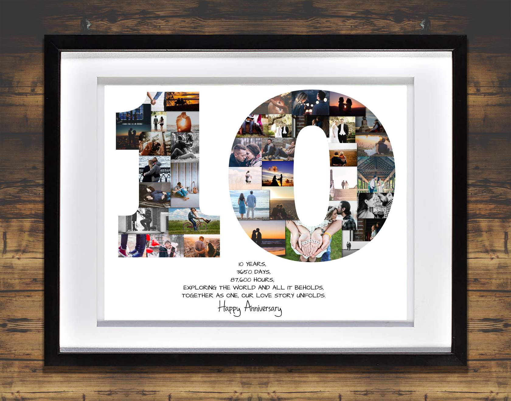 10th Anniversary Photo Collage Premium Hand Crafted