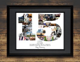 15th Anniversary Photo Collage – 15th Birthday Collage – Milestone Anniversary Collage