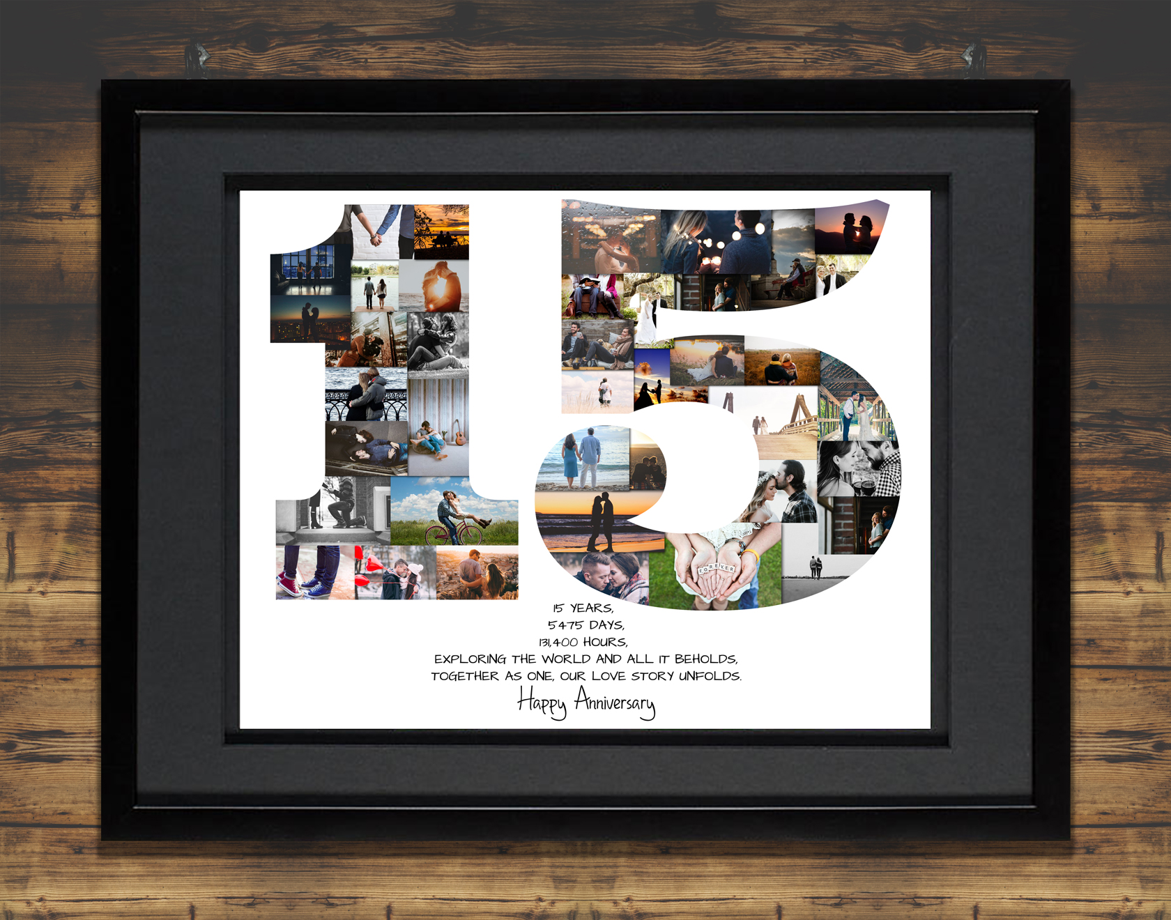 511dba71778 15th Anniversary Photo Collage – 15th Birthday Collage – Milestone  Anniversary Collage