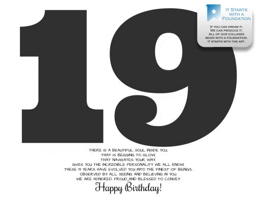 19th Birthday Collage Template