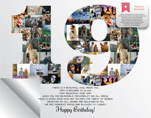 19th Birthday Collage Printed Version