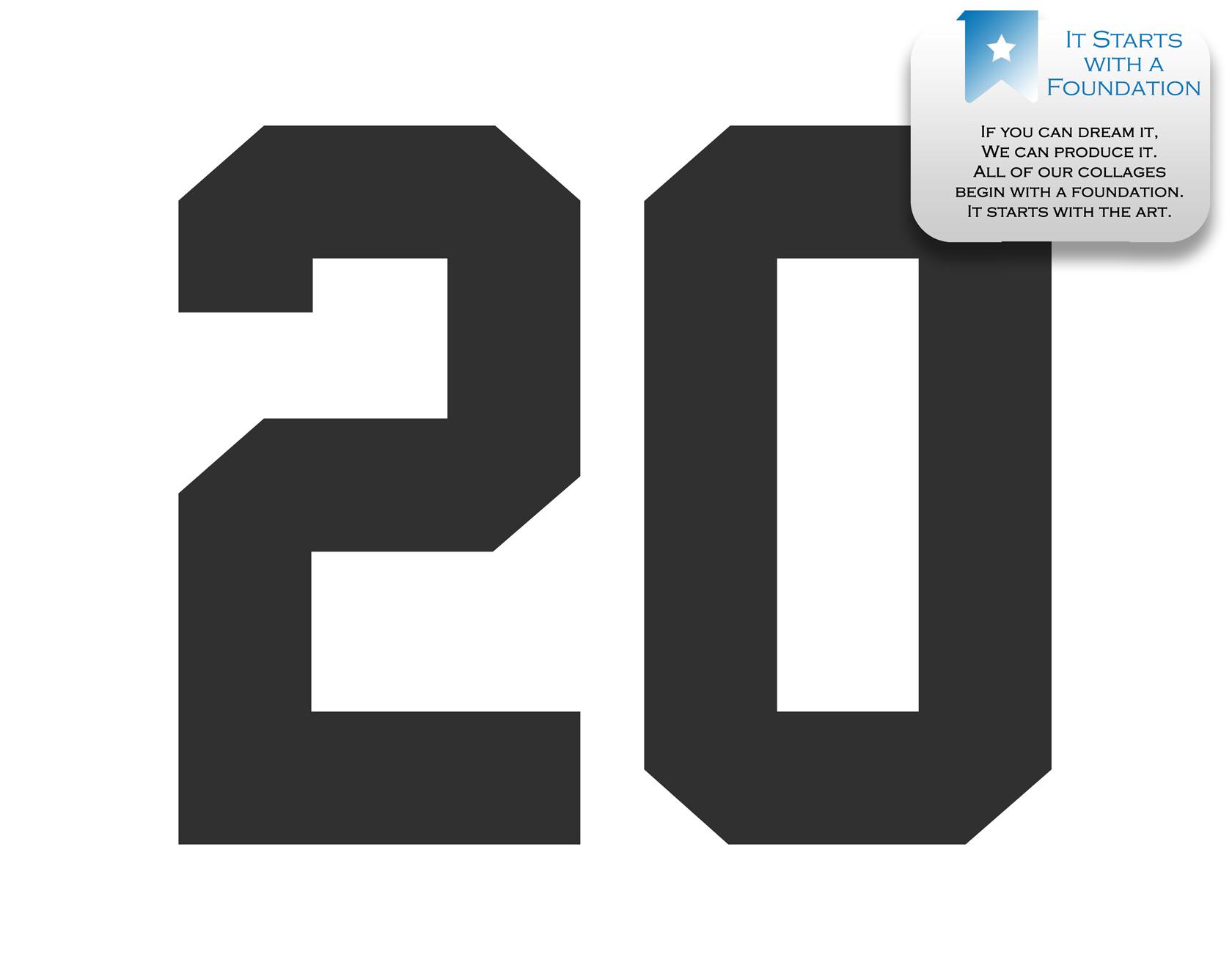 2d4c99e4929 20th Birthday Photo Collage – 20th Anniversary Collage – Milestone Birthday  Collage