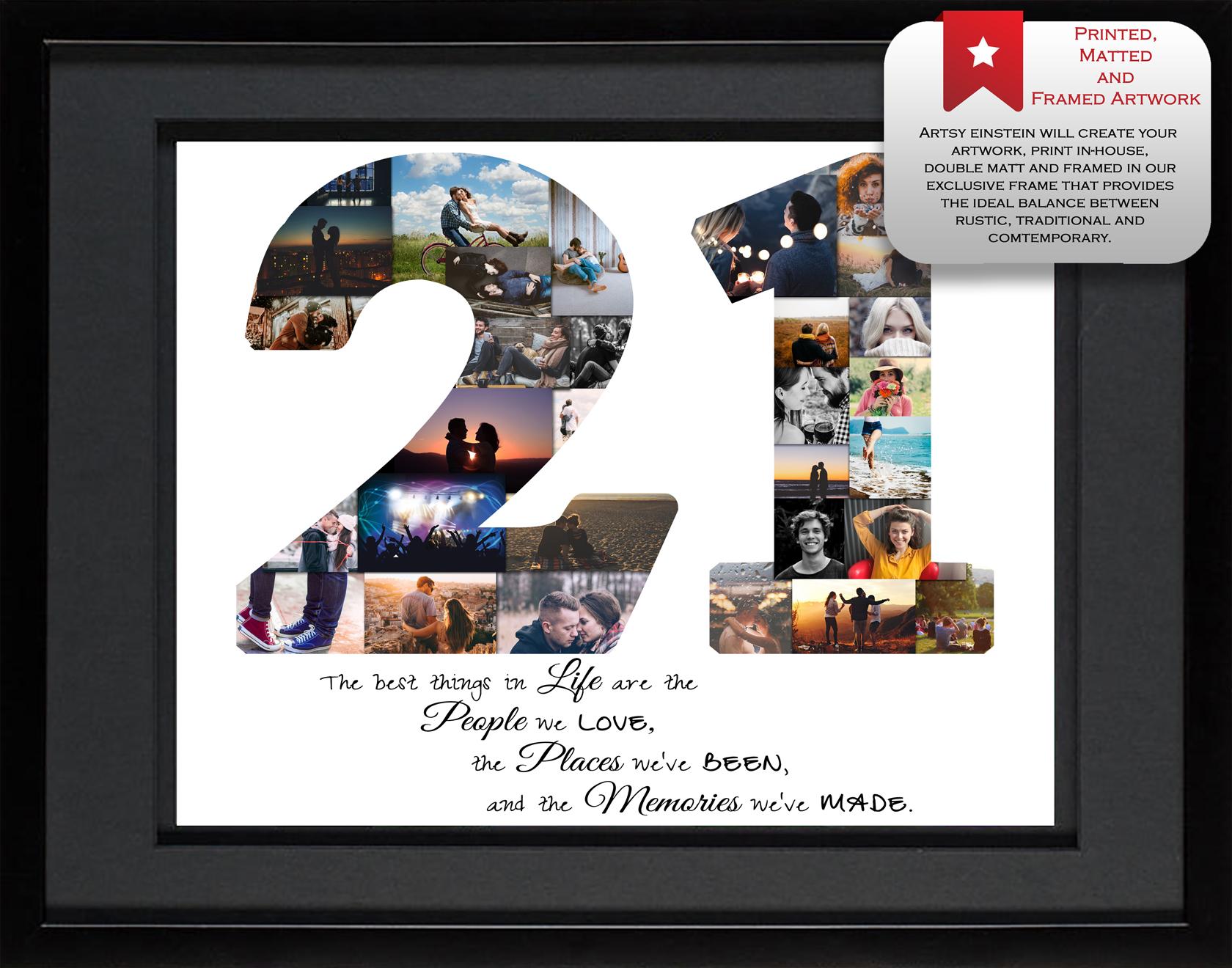 21st Birthday Collage - Hand-Crafted Photo Collage | Artsy Einstein