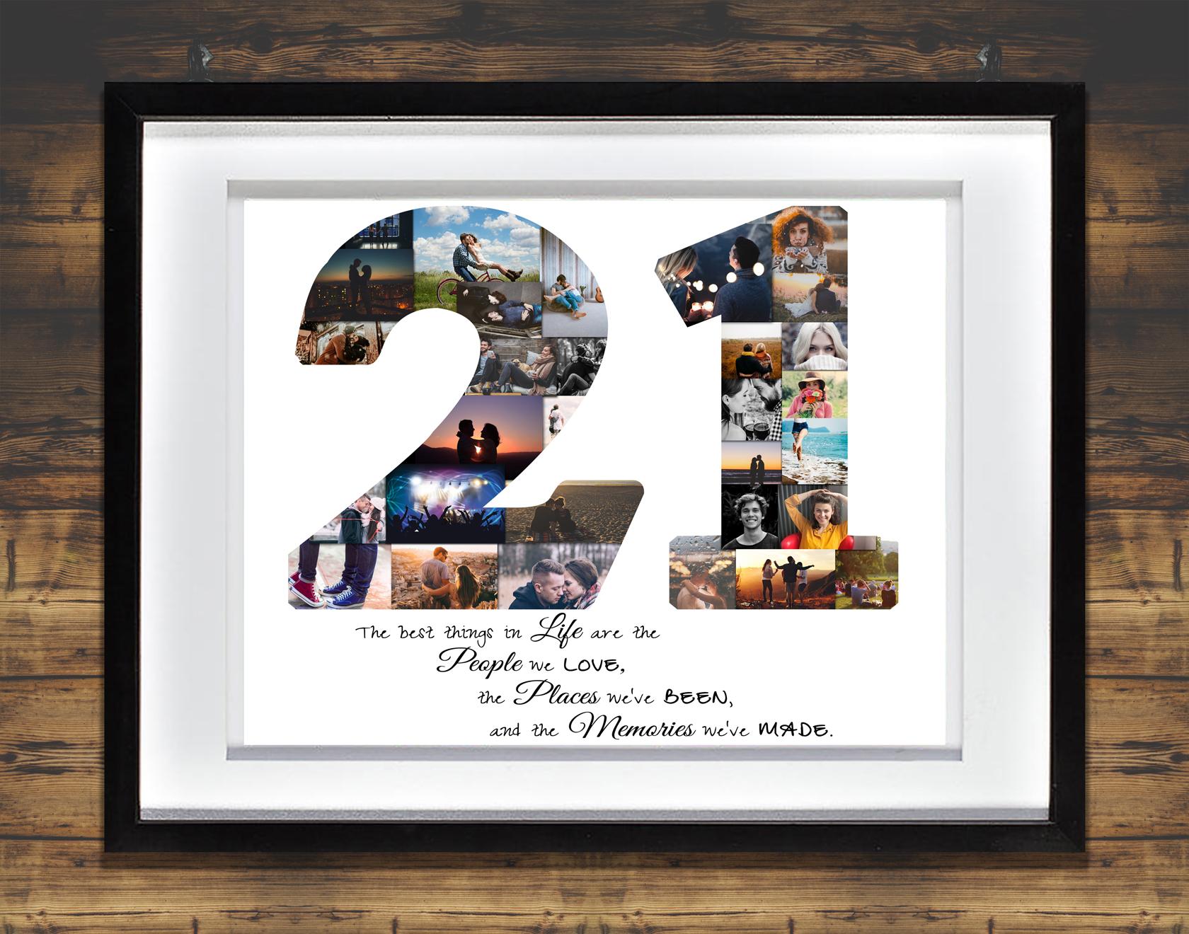 21st Birthday Photo Collage Premium Hand Crafted Collage Artsy
