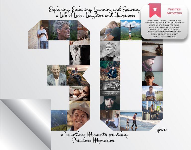 30th Birthday Collage Printed Version