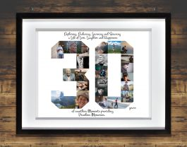 30th Birthday Photo Collage – 30th Anniversary Collage – Milestone Birthday Collage