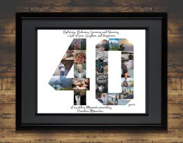 40th Birthday Photo Collage – 40th Anniversary Collage – Milestone Birthday Collage