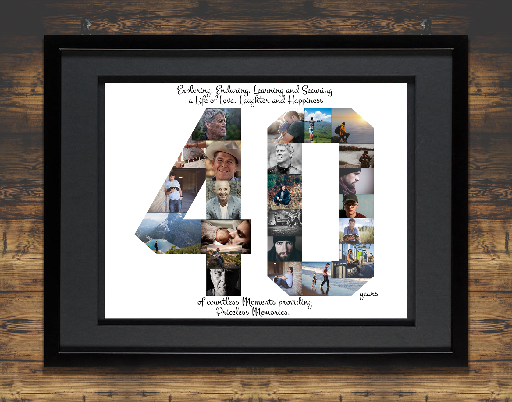 40th Birthday Photo Collage Premium Hand Crafted Collage