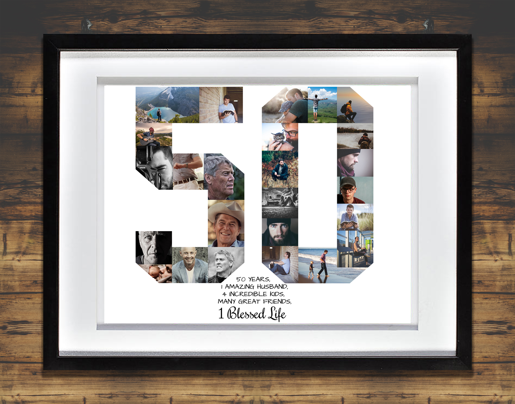 50th Birthday Photo Collage: Premium, Hand-Crafted Collage | Artsy ...