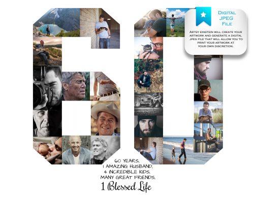 60th Birthday Collage Digital File