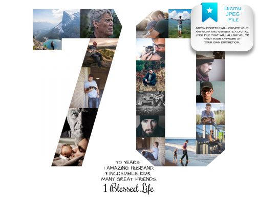 70th Birthday Collage Digital File