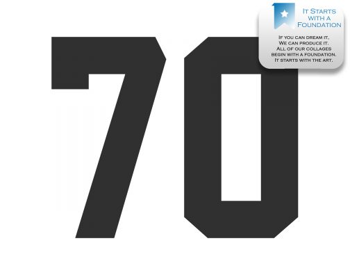 70th Birthday Collage Template