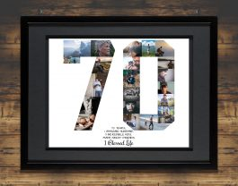 70th Birthday Photo Collage – 70th Anniversary Collage – Milestone Birthday Collage
