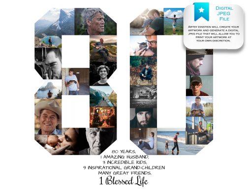 80th Birthday Collage Digital File