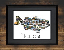 Bass Fish Photo Collage
