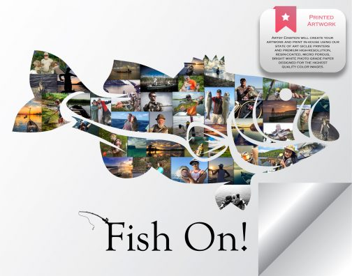 Bass Fish Collage Printed Version