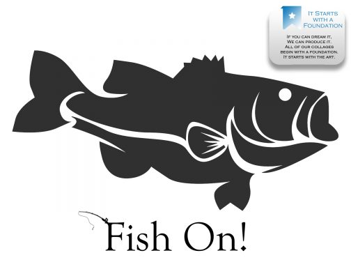 Bass Fish Collage Template