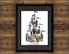 Princess Castle Photo Collage – Design #2