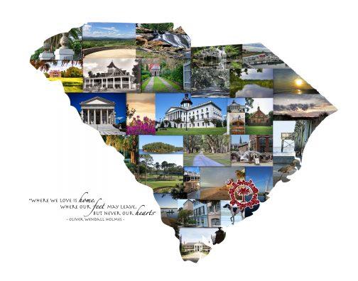 Charleston SC Photo Collage: Palmetto Moon | Carolina