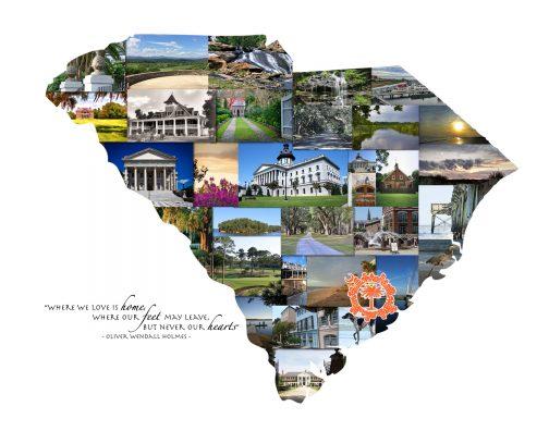 Charleston SC Photo Collage: Palmetto Moon | Clemson