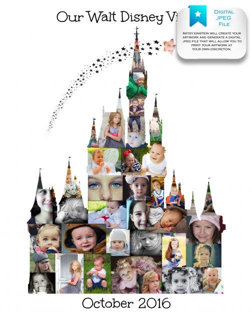 Cinderella Castle Collage Digital File