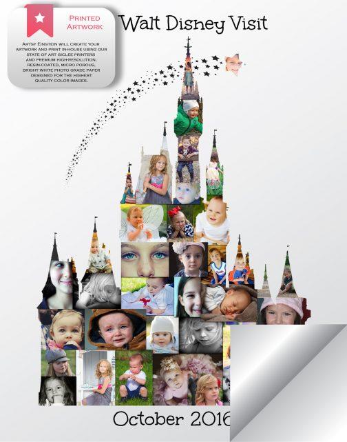 Cinderella Castle Collage Printed Version