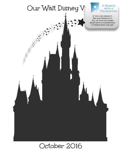 Cinderella Castle Collage Template