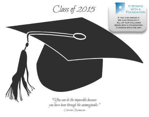 Graduation Cap Collage Template