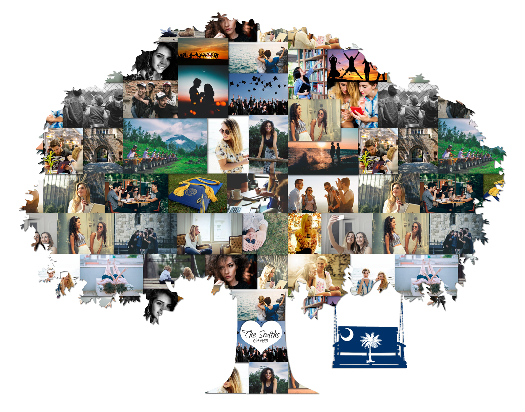 Family Tree Idea: Premium, Hand-Crafted Photo Collage ...