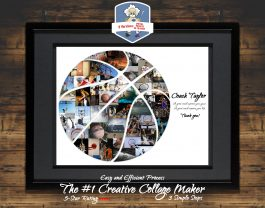 Basketball Gift | Basketball Coach Gift | Personalized Photo Collage